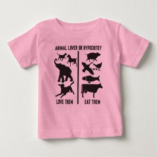 Amoureux des animaux ou hypocrite ? t-shirt pour bébé