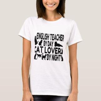 Amoureux des chats de professeur d'Anglais T-shirt