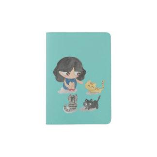 Amoureux des chats protège-passeport