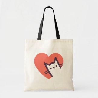 Amoureux des chats tote bag