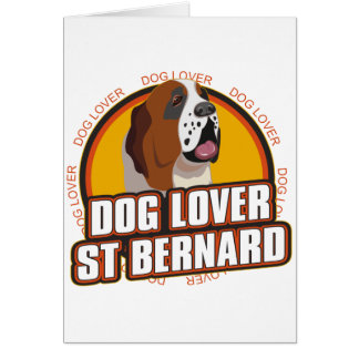 Amoureux des chiens de St Bernard Carte De Vœux