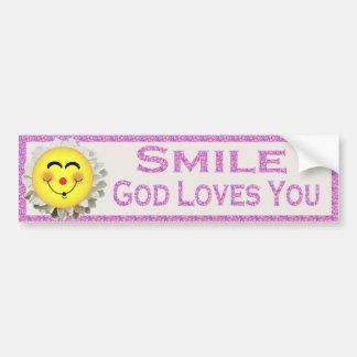 Amours de Dieu de sourire vous Adhésifs Pour Voiture