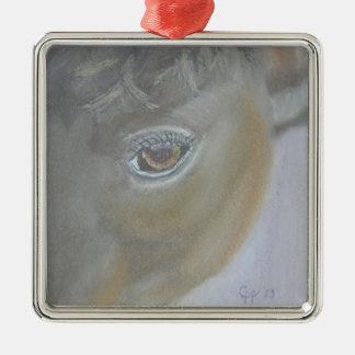 Amplifiez mon amour-propre - peinture de cheval ornement carré argenté