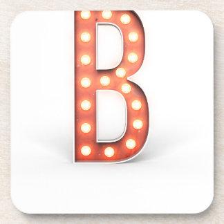 Ampoule de chapiteau de monogramme de B Dessous-de-verre