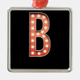 Ampoule de chapiteau de monogramme de B Ornement Carré Argenté