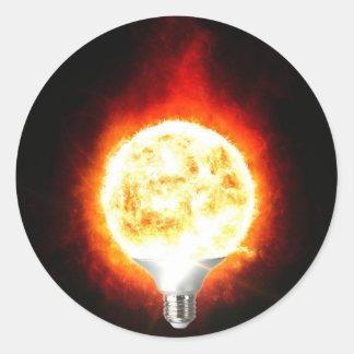 Ampoule de Sun Sticker Rond