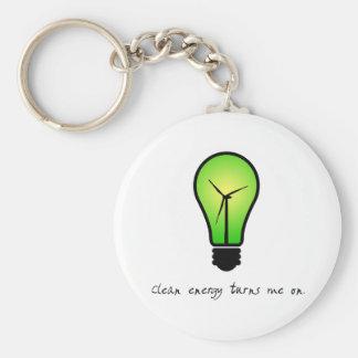 Ampoule d'énergie propre - porte - clé porte-clé rond
