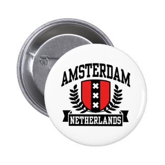 Amsterdam Badge Rond 5 Cm