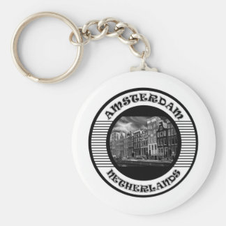 AMSTERDAM BLACK AND WHITE PORTE-CLEFS