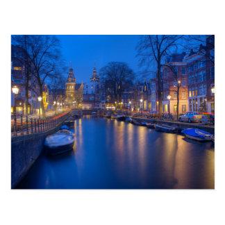 Amsterdam, carte postale néerlandaise de
