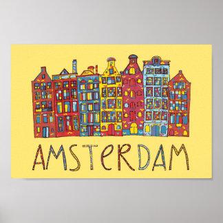 Amsterdam dans la mosaïque poster