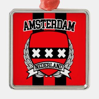 Amsterdam Ornement Carré Argenté