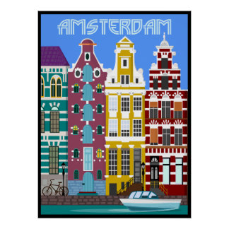 Amsterdam. Travail original à côté de BooPooBeeDoo Posters