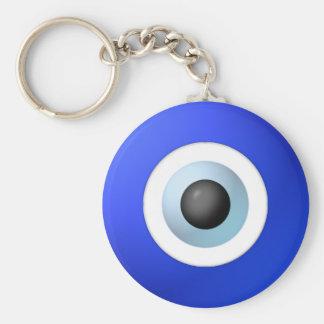 Amulette pour écarter l'oeil mauvais porte-clé rond