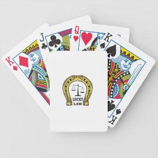 amusement chanceux de loi cartes à jouer