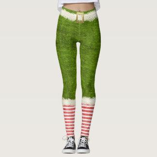 Amusement chic de vacances de vert de costume leggings