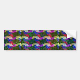 Amusement coloré de vagues de cadeaux à bas prix autocollant de voiture