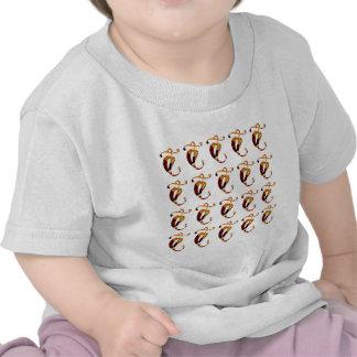 AMUSEMENT d or de festival de motif d impression T-shirts