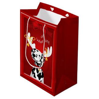 Amusement dalmatien MGB de chien de cerfs communs Sac Cadeau Moyen
