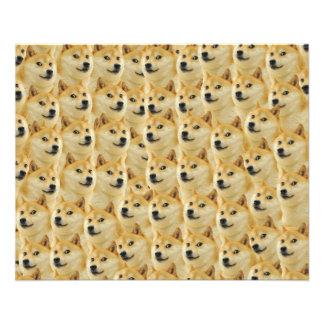 amusement de doge de shibe et meme drôle adorables prospectus 11,4 cm x 14,2 cm