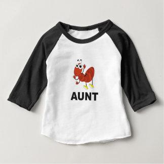 amusement de fourmi de tante t-shirt pour bébé