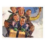 Amusement de neige de Noël de Sleigh Carte Postale