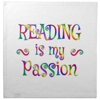 Amusement de passion de lecture serviettes en tissus