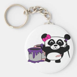 Amusement de peinture de panda de fille porte-clef