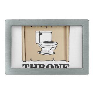 amusement de trône de toilette boucles de ceinture rectangulaires