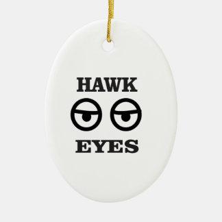 amusement d'oeil de faucon ornement ovale en céramique
