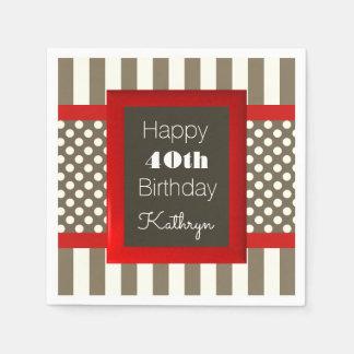 Amusement et anniversaire moderne serviettes en papier