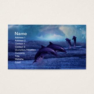 Amusement et jeu de dauphins cartes de visite