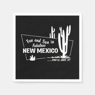 Amusement et Sun au Nouveau Mexique fabuleux Serviettes Jetables