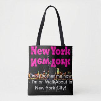 Amusement guidé d'achats de sac de voyage de NYC