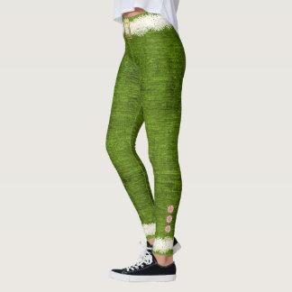 Amusement mignon de vacances de vert de costume leggings