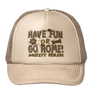 Amusement ou chapeau à la maison d'agilité de chie casquettes de camionneur
