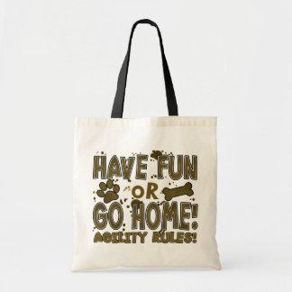 Amusement ou sac fourre-tout à la maison à agilité