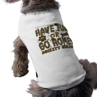 Amusement ou T-shirt à la maison de chien d'agilit Vêtements Pour Animaux Domestiques