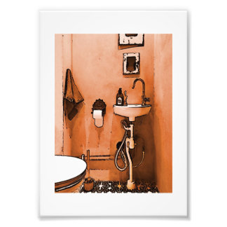 """Amusement pour des plombiers """"Le Toilet vintage """" Photo D'art"""