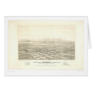 Anaheim, carte panoramique de CA (0025A) - non