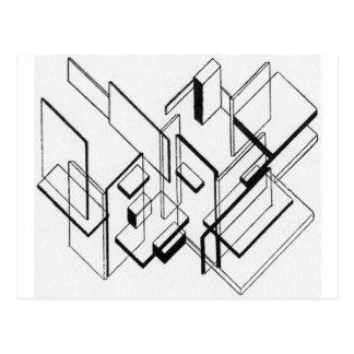 Analyse architecturale par Theo van Doesburg Carte Postale