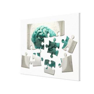 Analyse de cerveau, illustration conceptuelle toiles