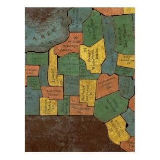 Analyse géographique de l'état de New York Carte Postale