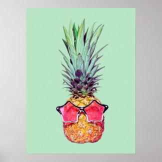 Ananas à la mode poster