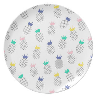 Ananas abstraits assiette