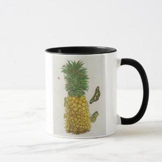 Ananas avec la chenille et les papillons (main-c mug