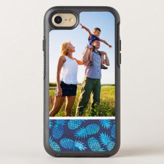 Ananas bleus de colorant de cravate de photo coque OtterBox symmetry iPhone 8/7