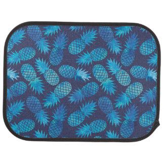 Ananas bleus de colorant de cravate tapis de voiture