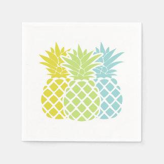 Ananas colorés serviettes jetables