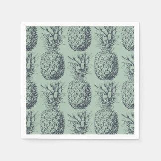 Ananas, conception de motif de fruit tropical serviettes jetables